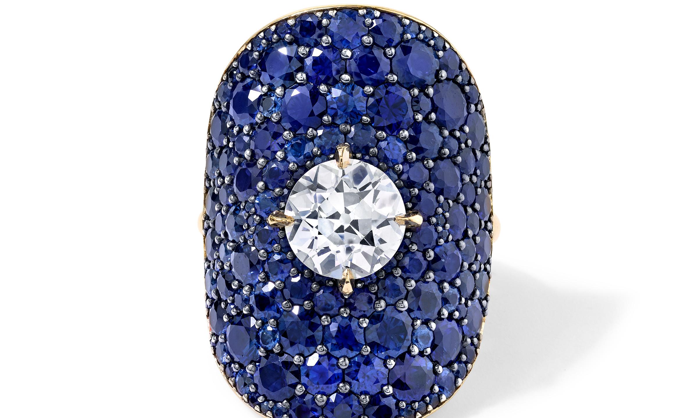 VRAM OAK DIAMOND AND SAPPHIRE RING (2)
