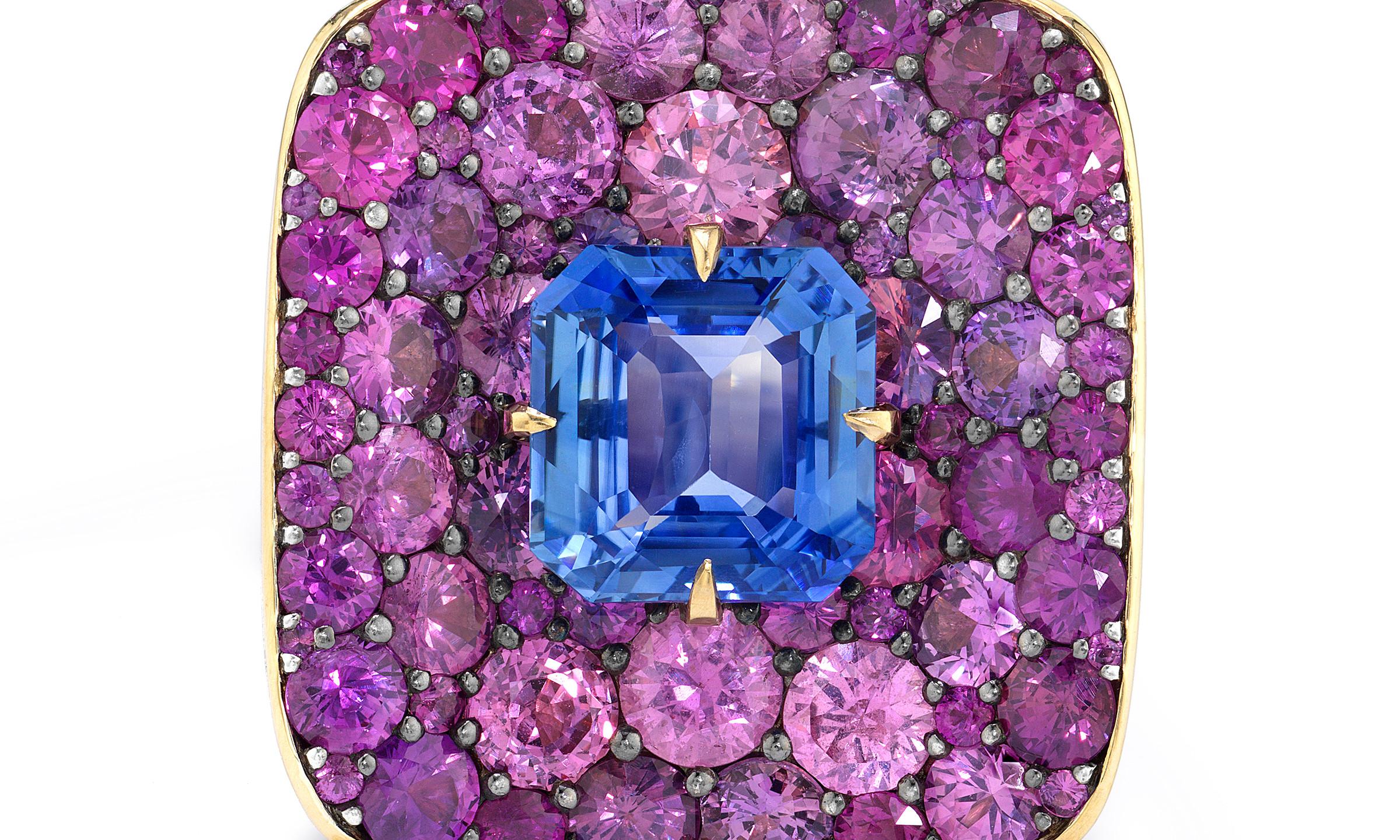 VRAM OAK DRAGONFLY RING PURPLE BLUE SAPP