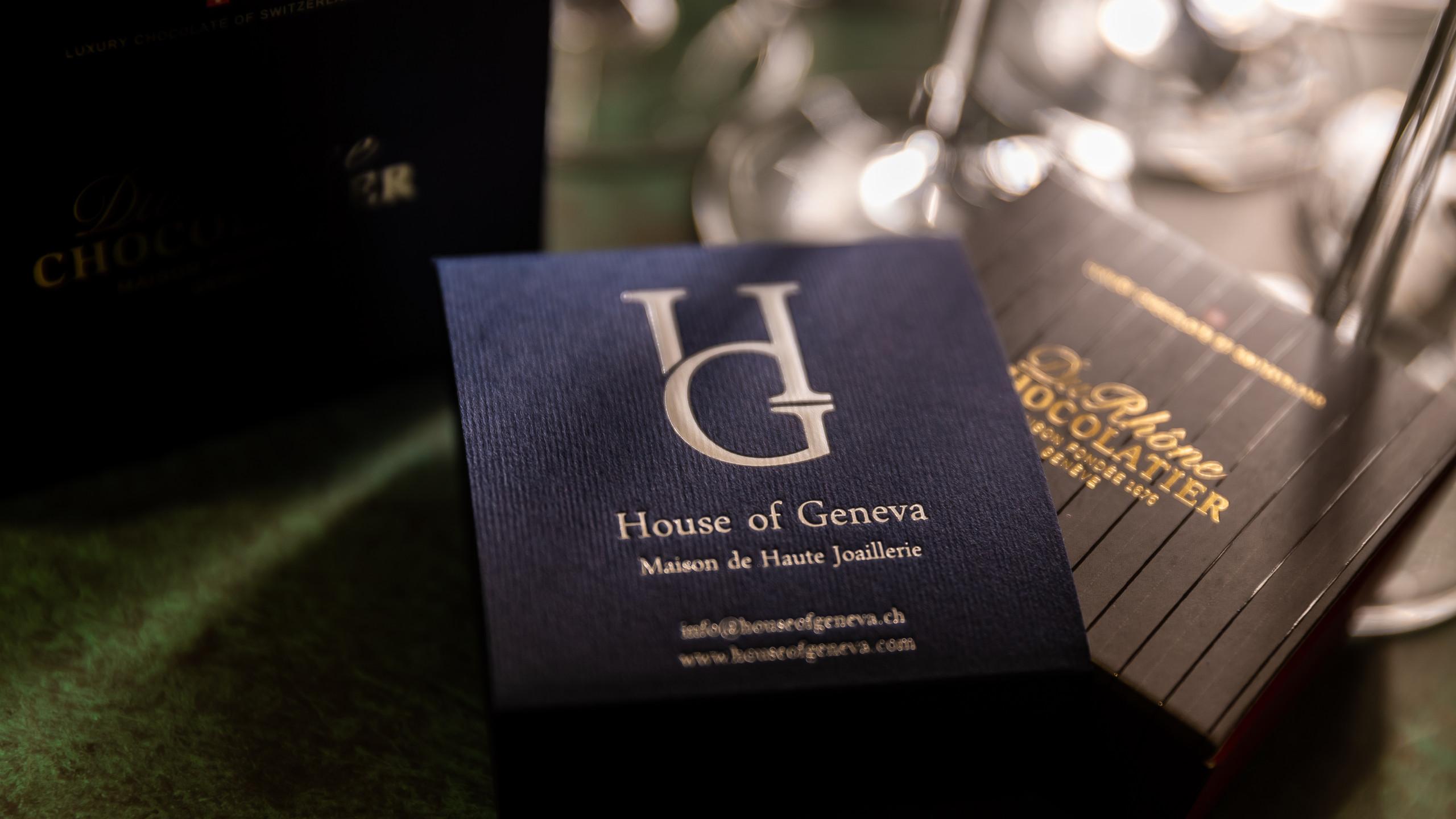 House of Geneva's collaboration with Du Rhône Chocolatier