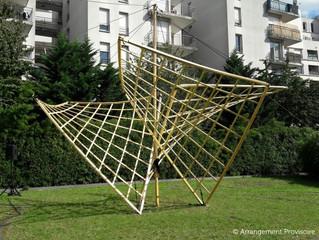 Pavillon Fuller au Collège de Mur-de-Barrez avec Jordi Gali de la Cie Arrangement provisoire