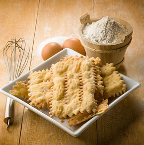 chiacchiere typical carnival dessert