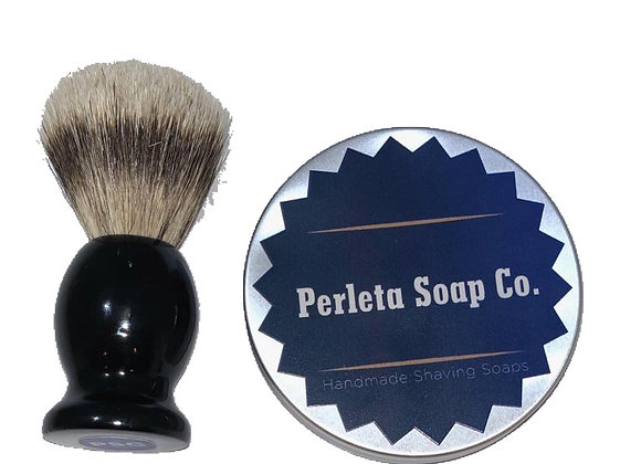 Perleta Shaving Soap, Bowl & Brush