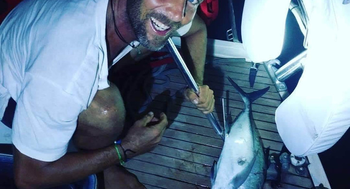 Pêche Michael voilier Amel Maramu 46 Panama
