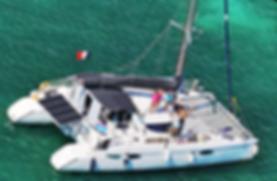 Roca family catamaran tahiti charter