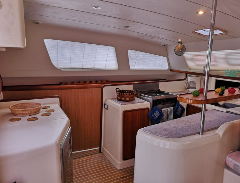 Salle à manger catamaran Panama