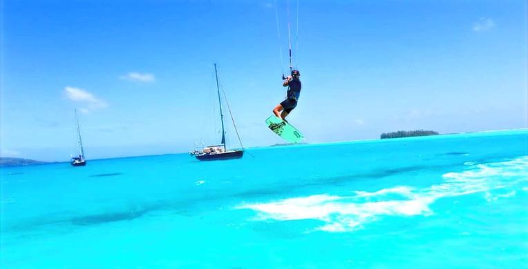 kitesurfing French polynesia