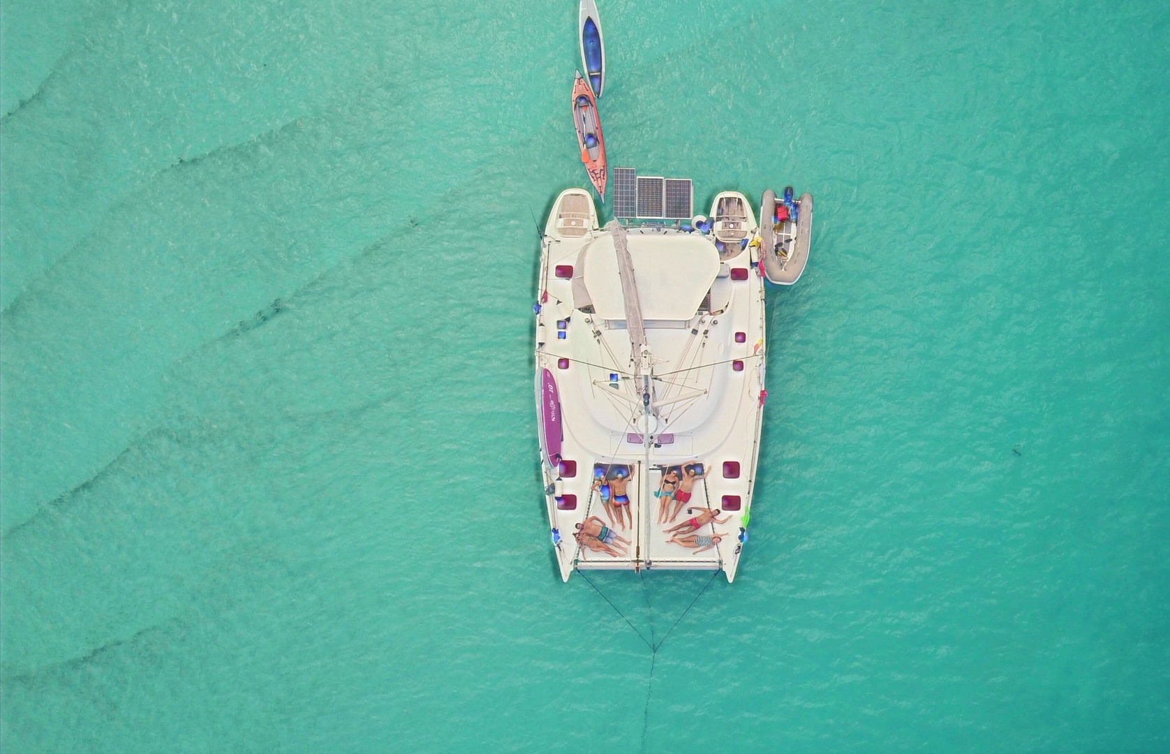 drone view-catamaran