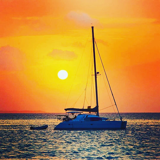 sunset charter catamaran belize travel
