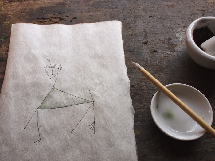 「星を縫う」ドローイング