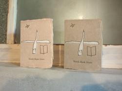 北書店(新潟市)カード/活版印刷×シルク(胡粉)