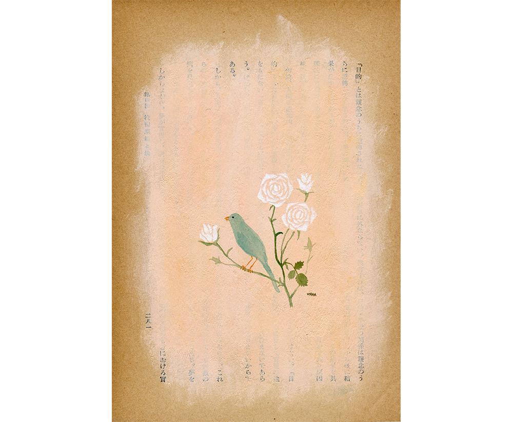 紅茶「バラと青い鳥」/原画