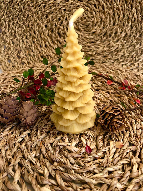 Christmas Tree Beeswax Candle