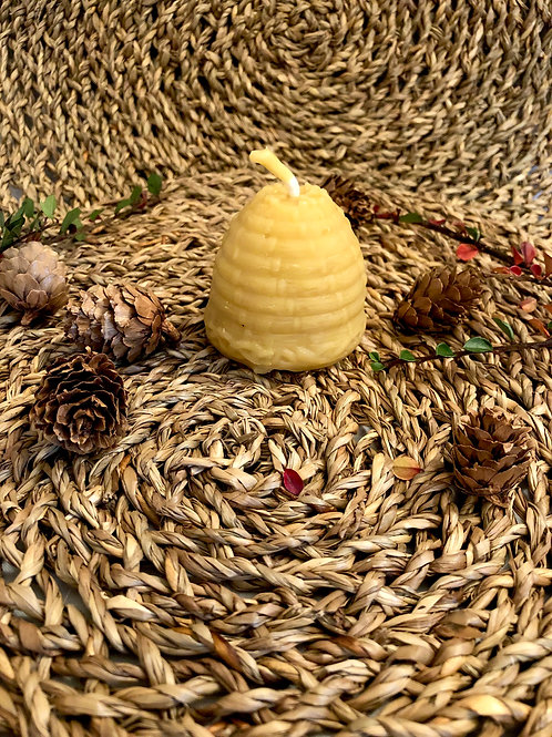 Beeswax Skep Candle