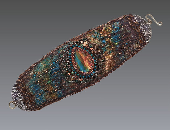 Peruvian Opal-Cuff Bracelet