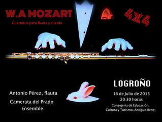 MOZART 4x4 - Cuartetos para flauta y cuerda.