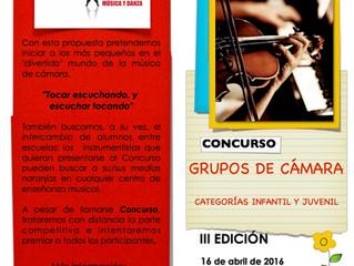 ESTUDIO21: III EDICIÓN CONCURSO INFANTIL DE MÚSICA DE CÁMARA