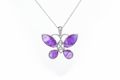Butterfly with White Topaz