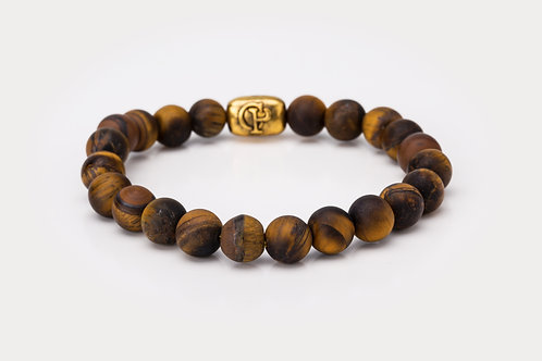 Matte Yellow Tiger Eye - 8mm