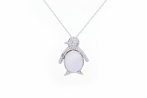 Penguin with White Topaz