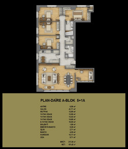 5+1 daire planı