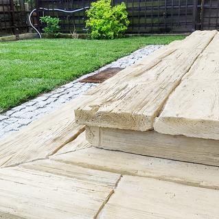 Schody - betonowe drewno