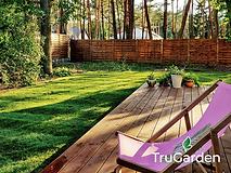 Trawnik ogród w stylu leśnym - zakładanie i pielęgnacja ogrodów - Tru Garden Wiązowna