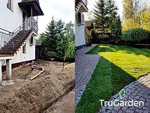 Ogród przed i po - zakładanie i pielęgnacja ogrodów - Tru Garden Wiązowna