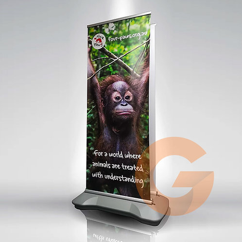 Outdoor Pull Up Banner Double Side