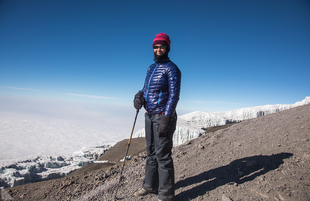 Near Uhuru Summit on Kilimanjaro in Tanzania – the roof of Africa.