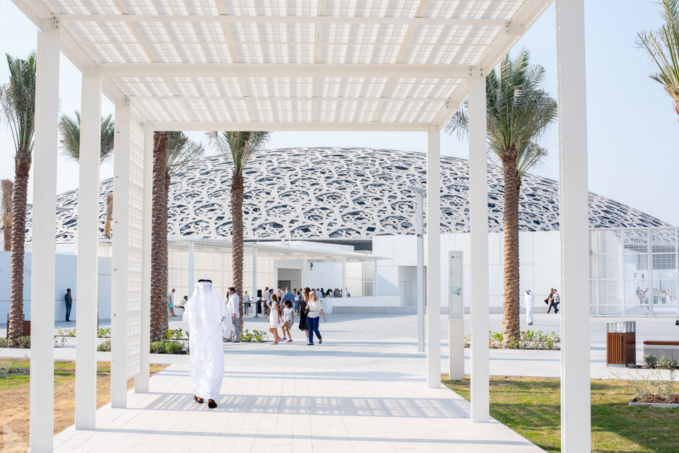Architecturally innovative and geniously implemented, the façade of the Louvre Abu Dhabi, designed by architect and artist, Jean Nouvel, draws as much attention as the galleries within.