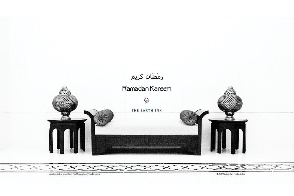 Ramadan greeting, ramadan Kareem, Bab Al Qasr Hotel, Abu Dhabi, United Arab Emirates