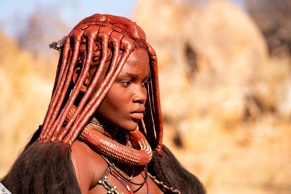Himba woman in Kunene Region of Namibia.