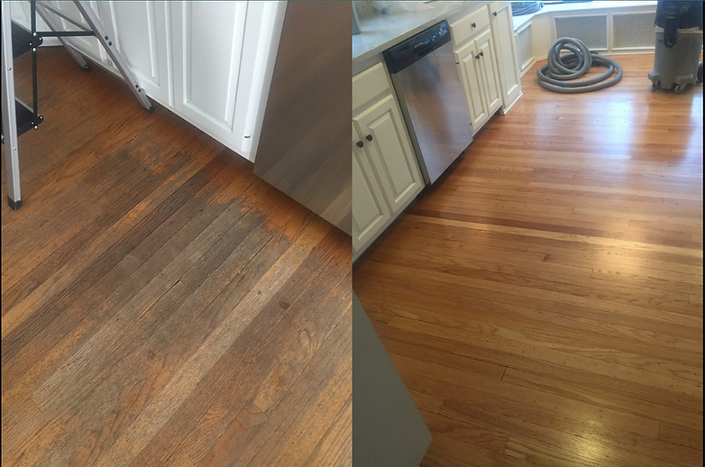 Bringing Back Beauty To A Worn Kitchen Floor