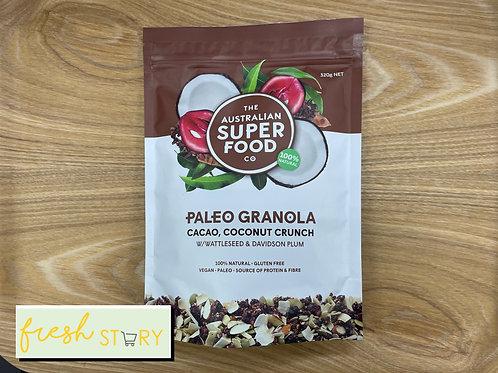 Superfood Paleo Granola (Cacao, Coconut Crunch)