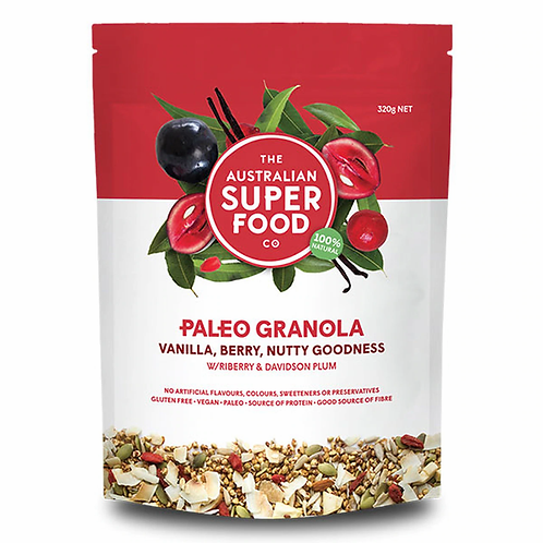Superfood Paleo Granola (Vanilla, Berry, Nutty Goodness)