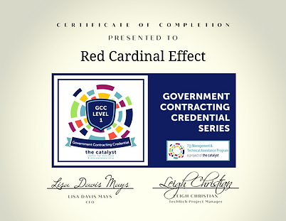- Level 1 Certificate - Red Cardinal Effect.png