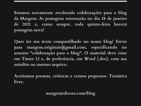 O blog da Margem está de volta!