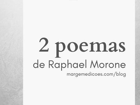 """""""Acima"""" e """"Inventário"""", de Raphael Morone"""