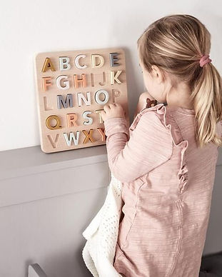 Kid's Concept - Wooden Alphabet Puzzle_看