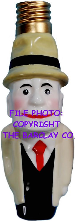 """#BC-090 - Old Time Comic Character """"Milk Glass"""" Bulb Cover - Dick Tracy"""