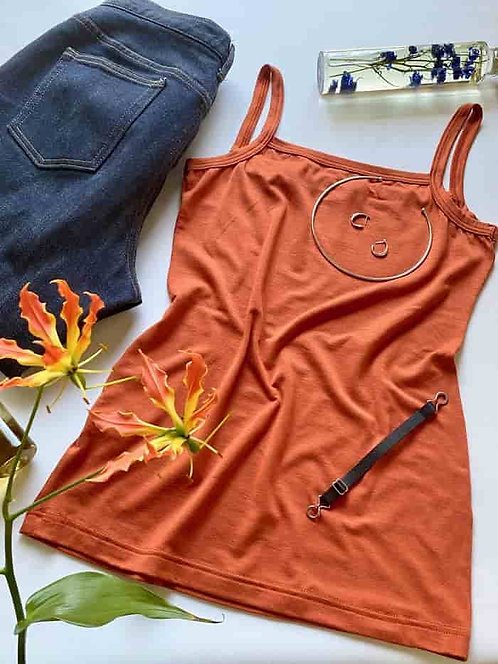 """Skin"" Modal Cami orange brown"