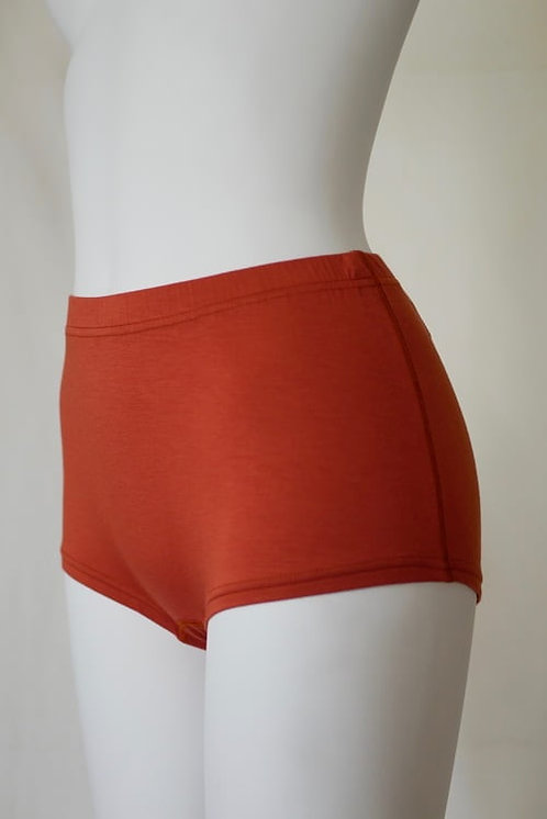 """skin"" Modal Boxer Shortsオレンジブラウン"
