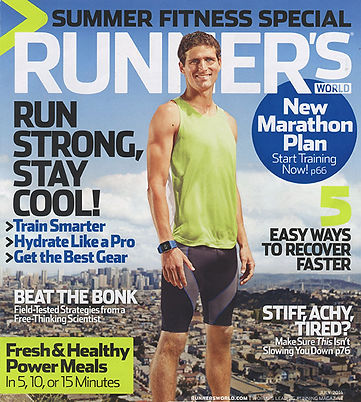 Orinda Fitness owner and running coach, Tristan Tool, featured on the cover of Runners World magazine