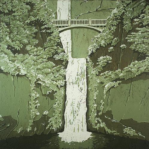 Multnomah Falls 10 x 10 print