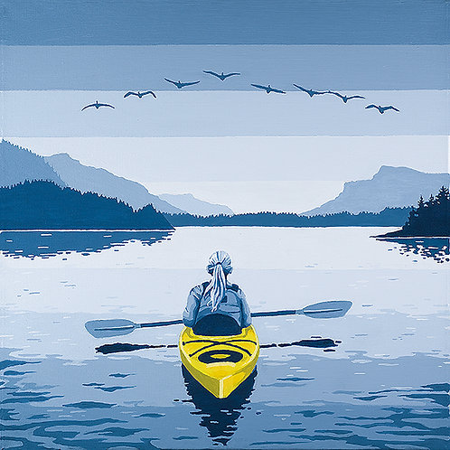 Kayak 16 x 16 print