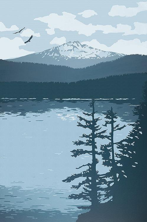 O'Dell Lake 12 x 18 print