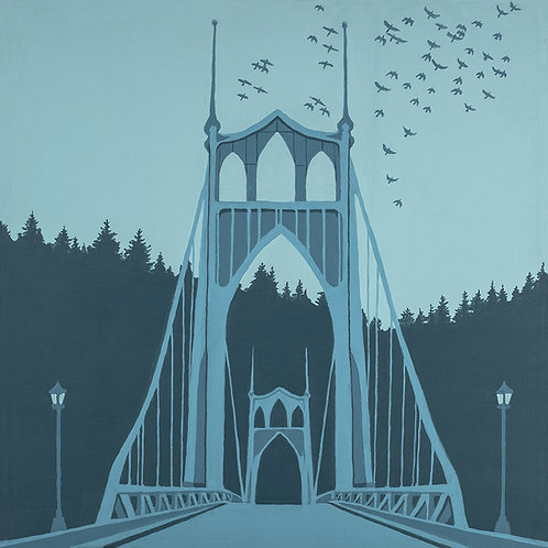 St. Johns Bridge 16x16 print