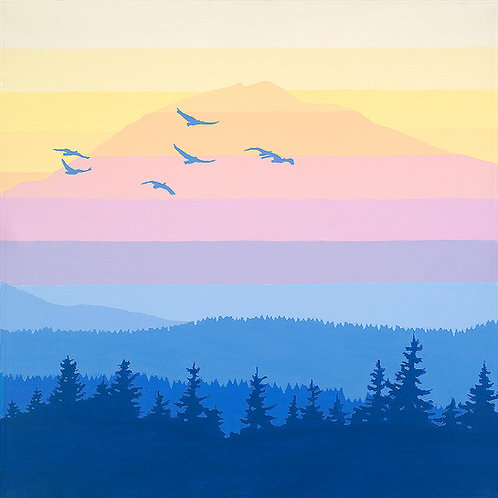 Mt. Adams Sunset 16 x16 print