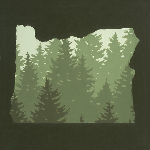 Oregon Trees 10x 10 print