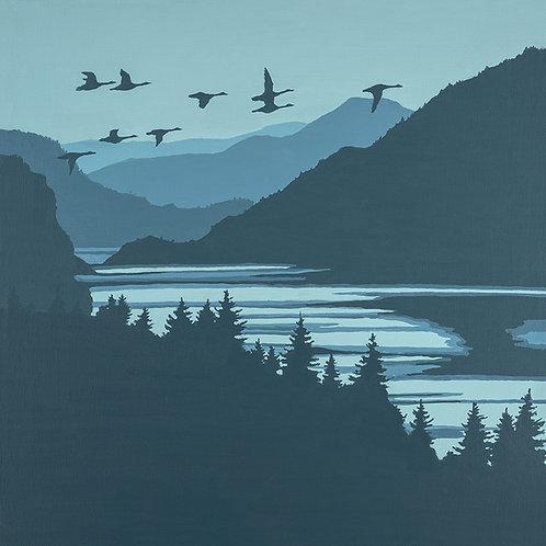 Gorge Flock 16x16 print